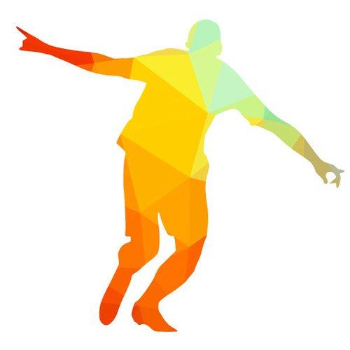 500x500 Soccer Player Silhouette Graphics Public Domain Vectors