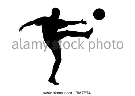 450x320 Soccer Football Player Ball Of A Silhouette From Particle Stock