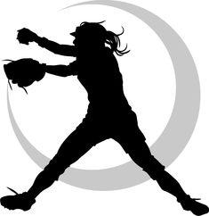 235x242 Girl Softball Pitcher Clipart