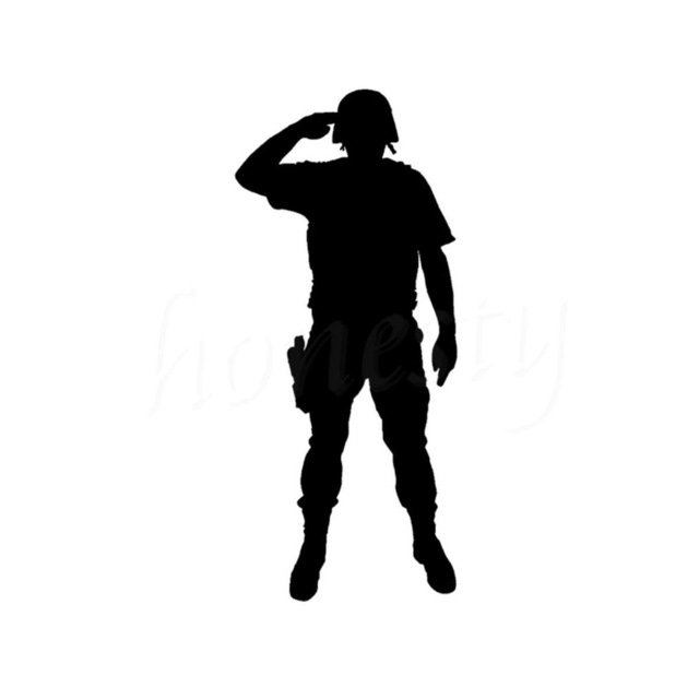 640x640 Rouse Uniformed Soldiers Salute Graph Car Sticker Wall Home Glass