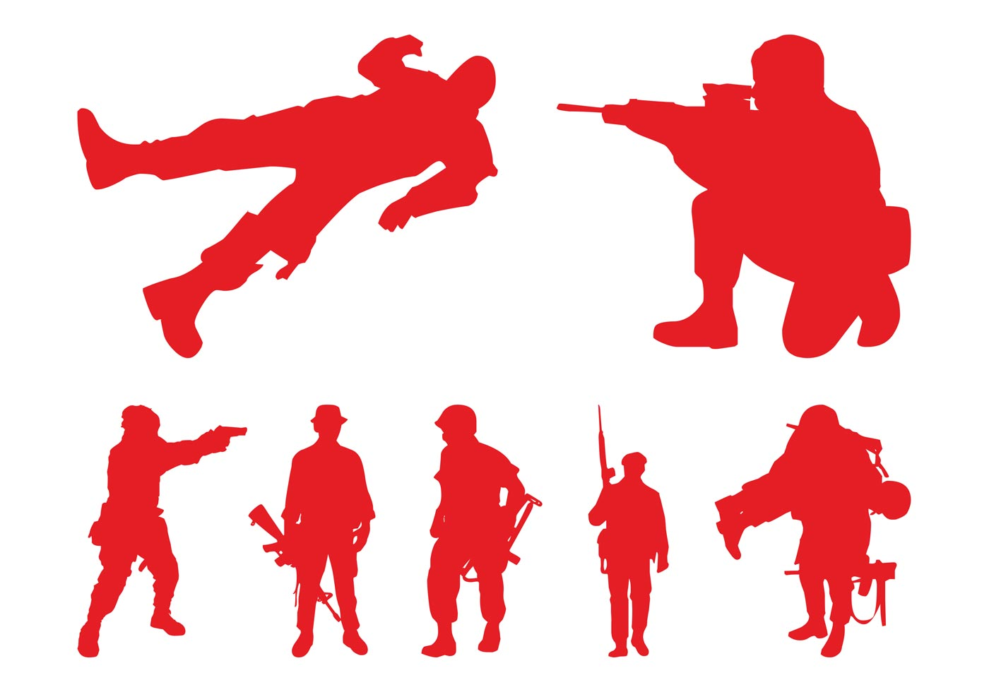 1400x980 Silhouettes Of Soldiers