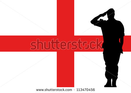 450x320 Soldier Saluting Flag Clipart