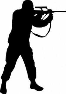 225x318 Woman Soldier Salute Silhouette