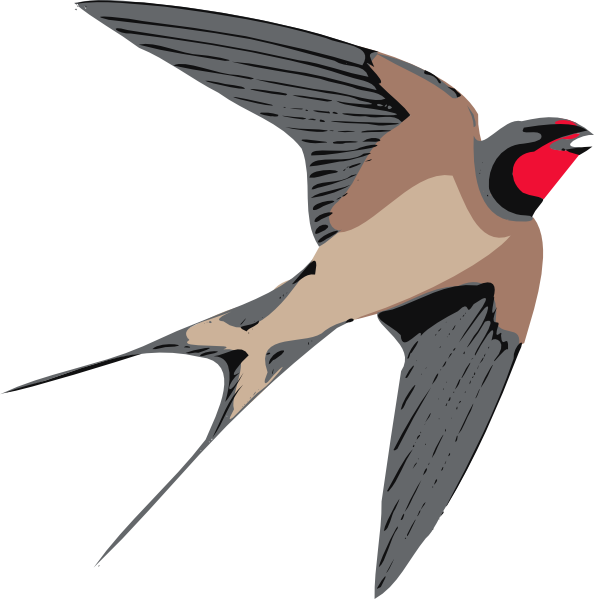 594x599 Sparrow Clipart Fly