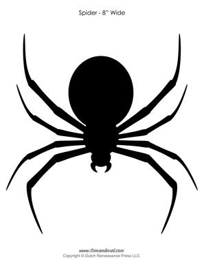 297x384 Halloween Spider Outline Spider Silhouette