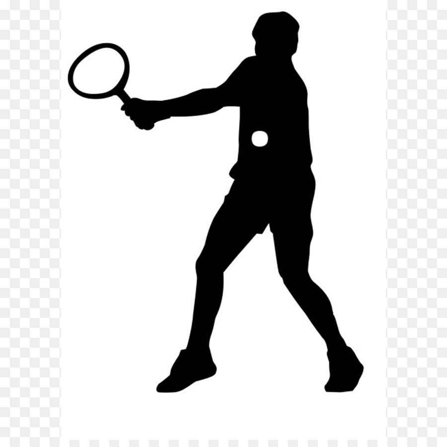 900x900 Silhouette Sport Tennis Clip Art