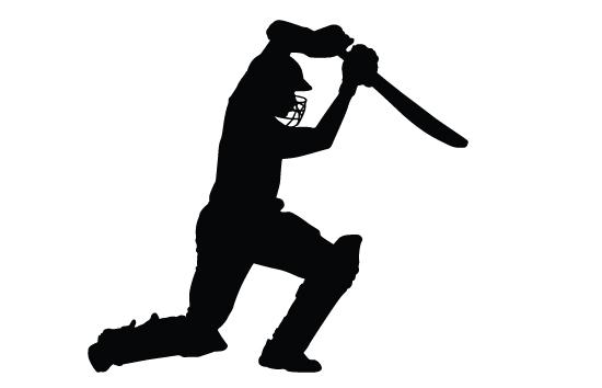 550x354 Sport Clipart Cricketer