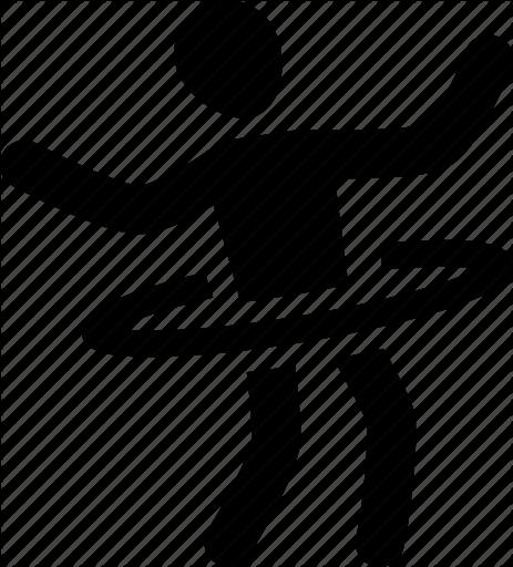463x512 Athlete, Exercise, Hoop, Hula, Silhouette, Sport Icon Icon