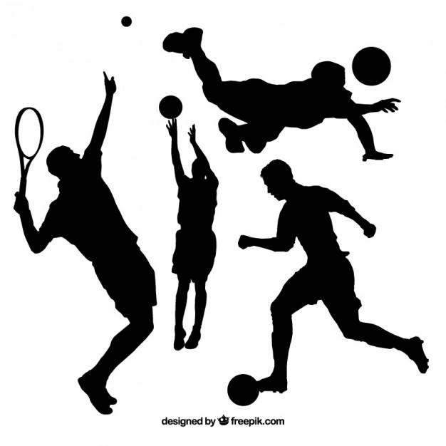 626x626 Collection Of People Doing Sport Silhouette Vector Free Download