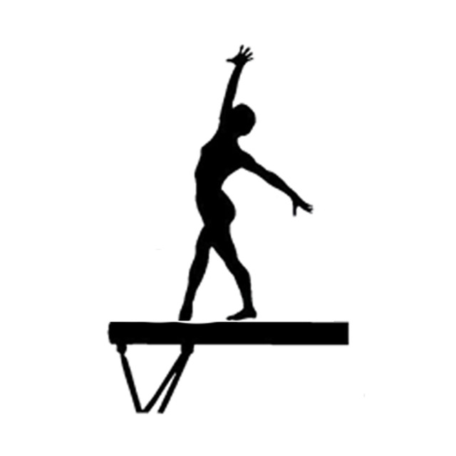 640x640 11.5cm17.7cm Interesting Gymnast Silhouette Sports Car Sticker