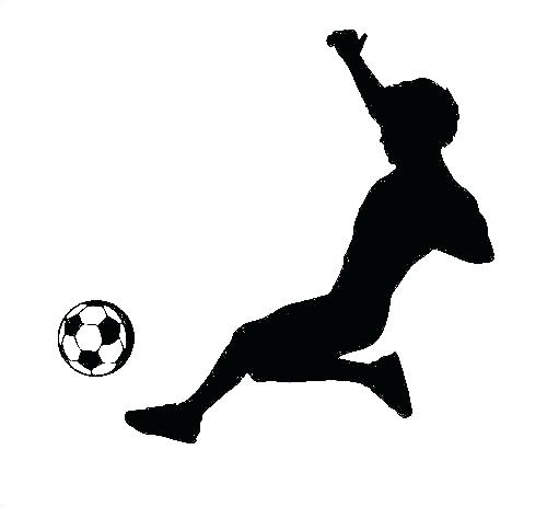 500x463 Soccer Silhouette Vector Football Player With Ball Stock And Free
