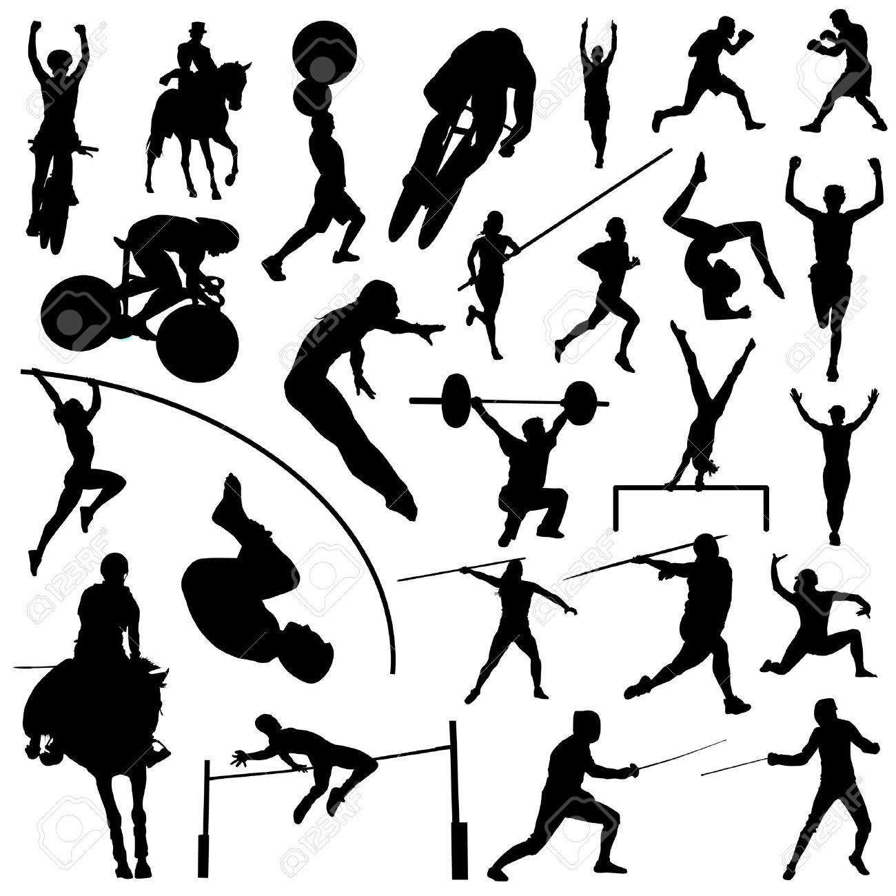 1300x1300 Sports Clipart Black And White 5 Clipart Station