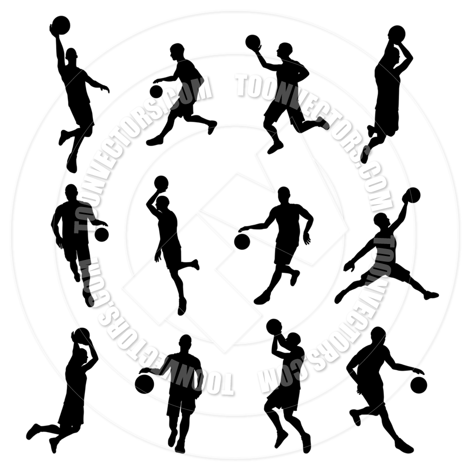 940x940 Basketball Sport Silhouettes By Geoimages Toon Vectors Eps