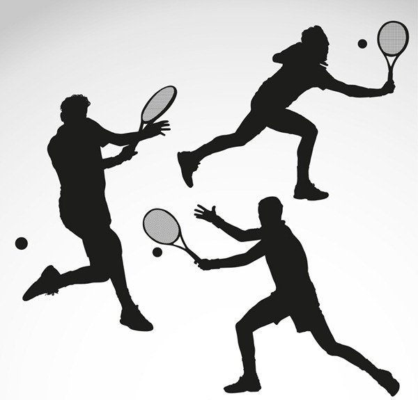 Silhouette Sports Figures