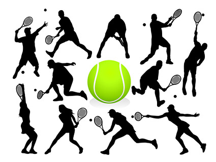 425x319 Keyword Vector Tennis Player Silhouette Sports Figures Free Download