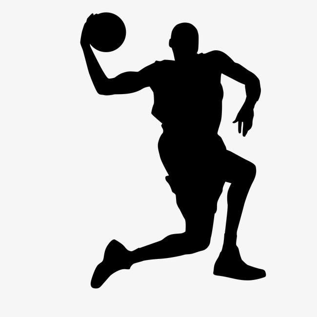 650x650 Movement, Basketball, Sports Icon, Silhouette Figures Png Image