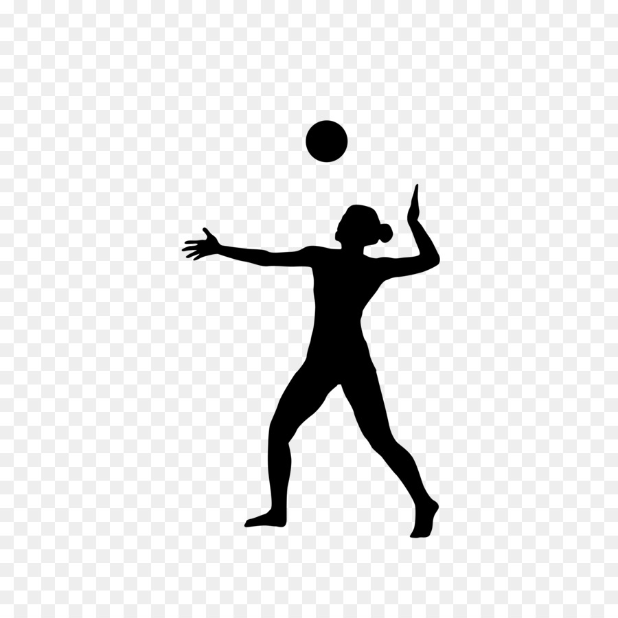900x900 Volleyball Silhouette Sport