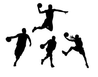 340x270 Basketball Players Stencil Svg Dxf File Instant Download