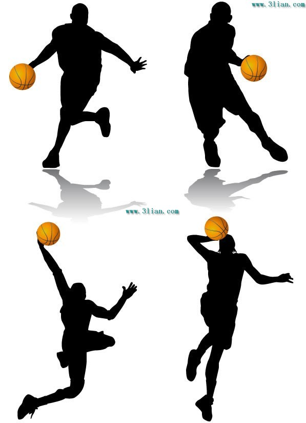 597x824 Basketball Figures Vector Sport Free Vector Free Download