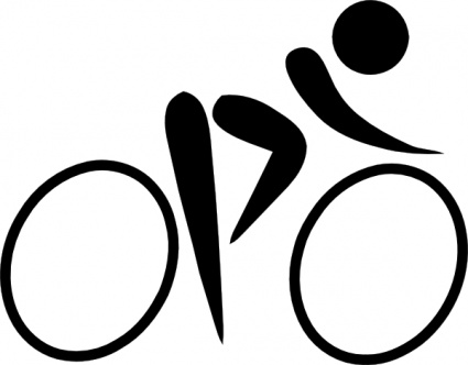 425x332 Cycling Sports Figures Silhouettes Vector, Free Vector Images