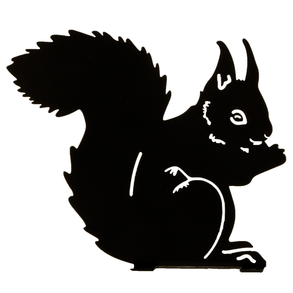 1000x1000 Silhouette Eating Squirrel