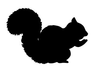 320x238 Squirrel Silhouette Decal Sticker
