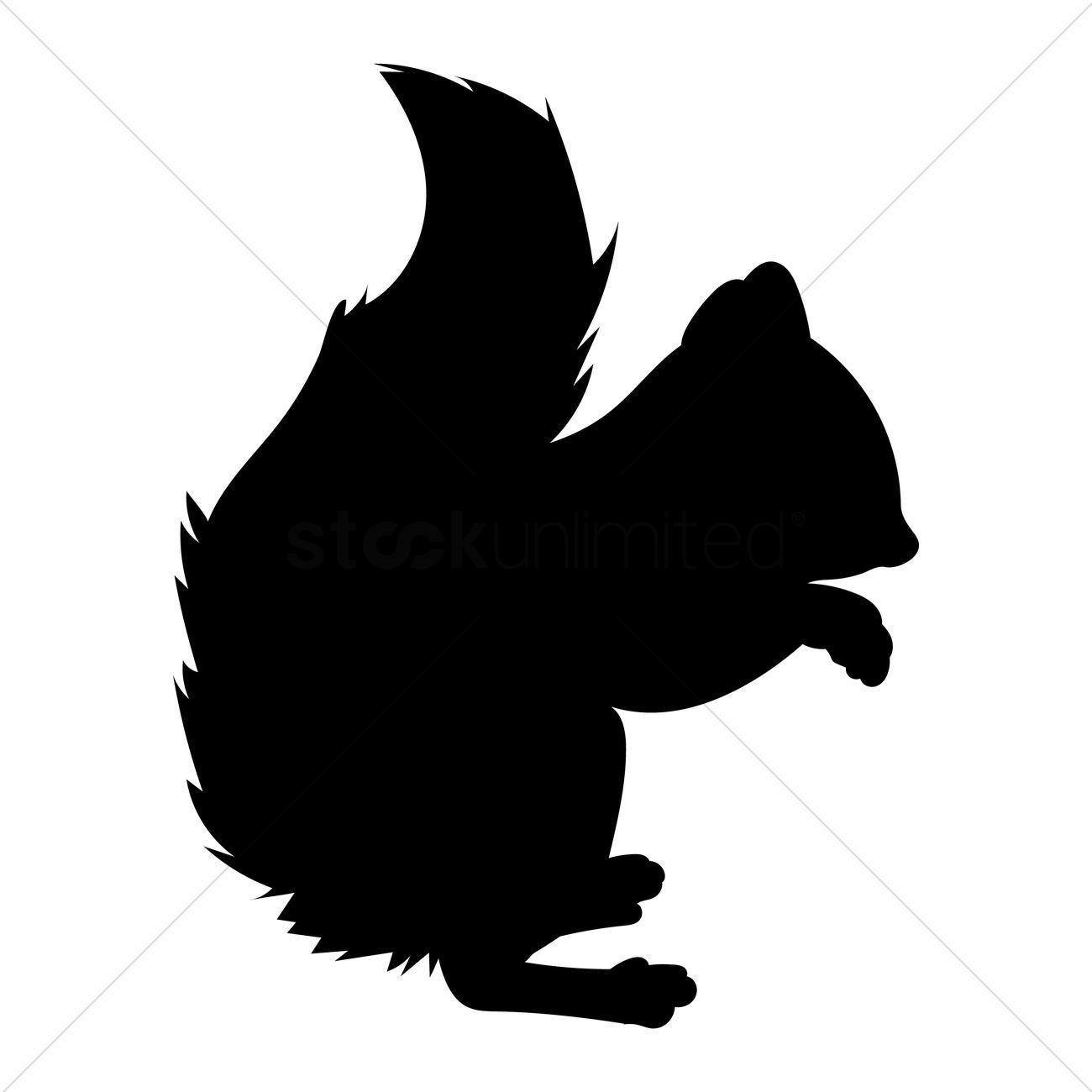 1300x1300 Squirrel Silhouette Vector Image
