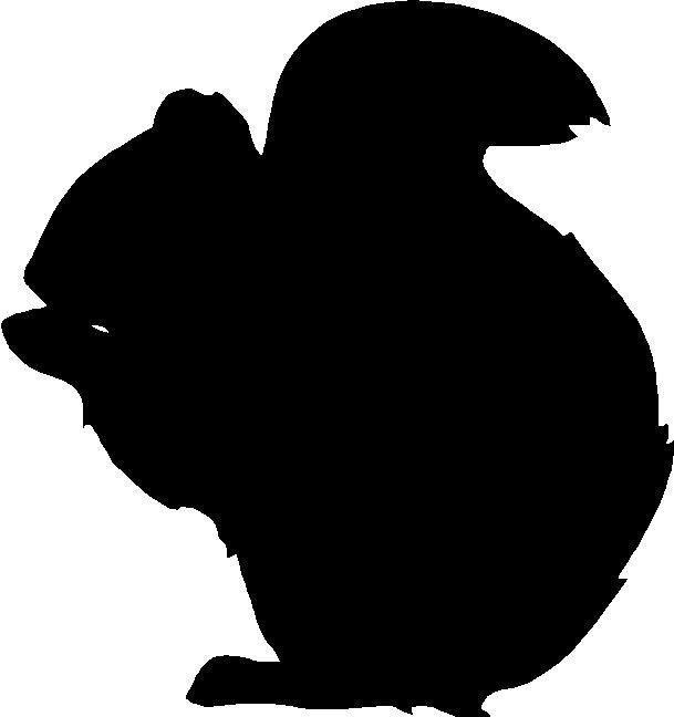 609x648 Silhouette Squirrel