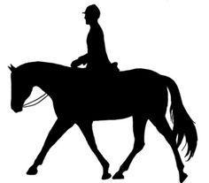 236x207 Western Pleasure Horse Silhouette Art Print Choose Your Colors