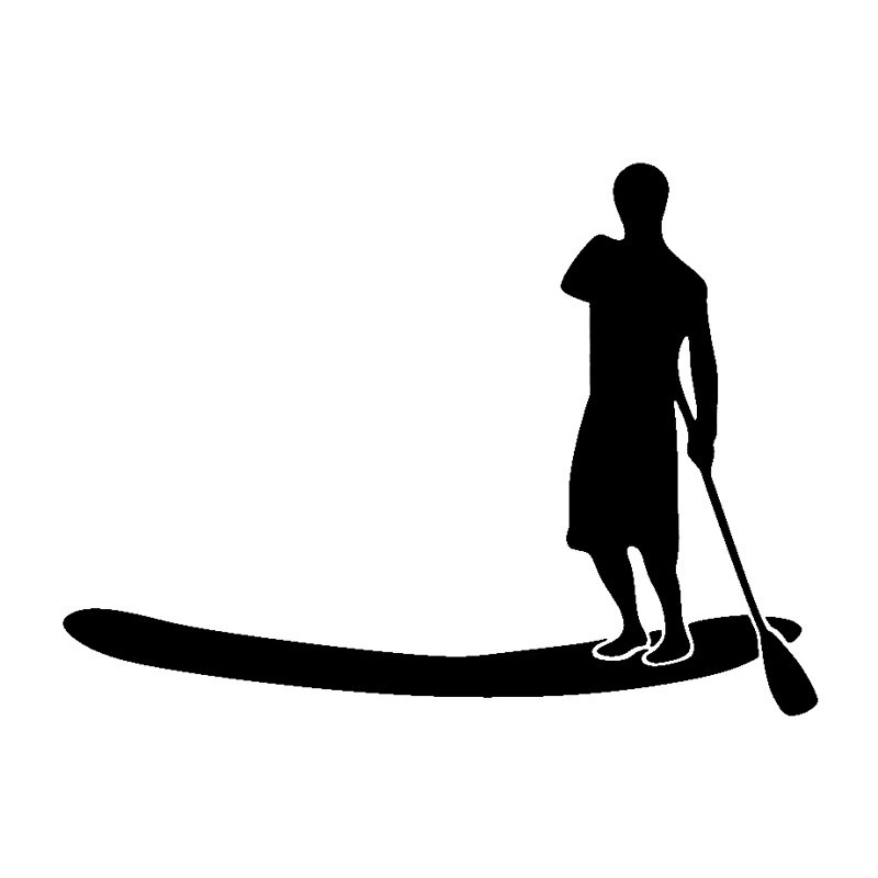 800x800 15cm11.1cm Stand Up Paddle Board Stickers Decoration Decal Black