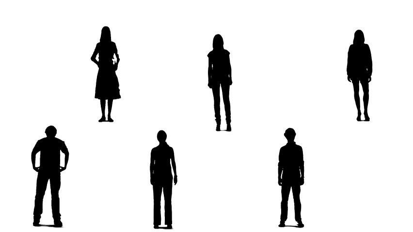 852x480 Raise Two Hands People Silhouette Stock Footage Video 478495