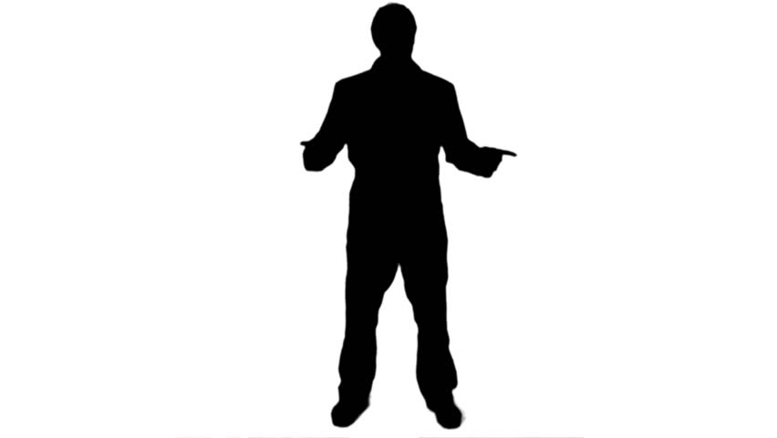 852x480 Smartphone Playing Call Silhouette Man