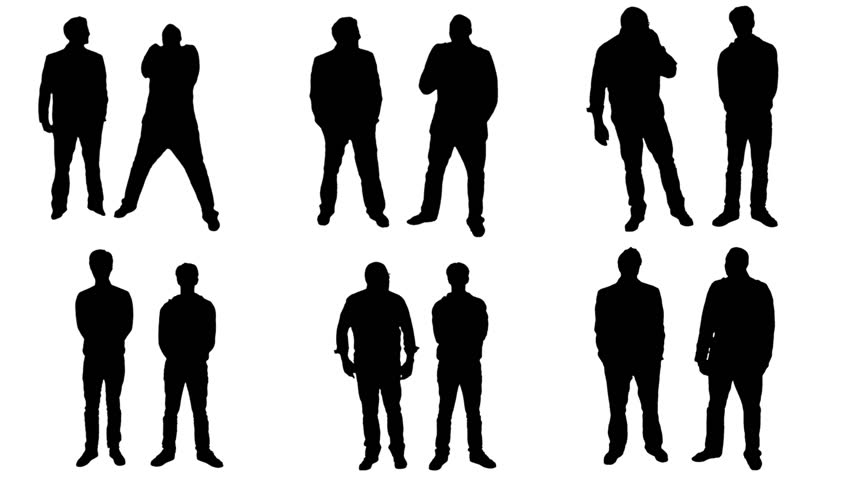 852x480 Stand And Wait People Silhouette Stock Footage Video 476470