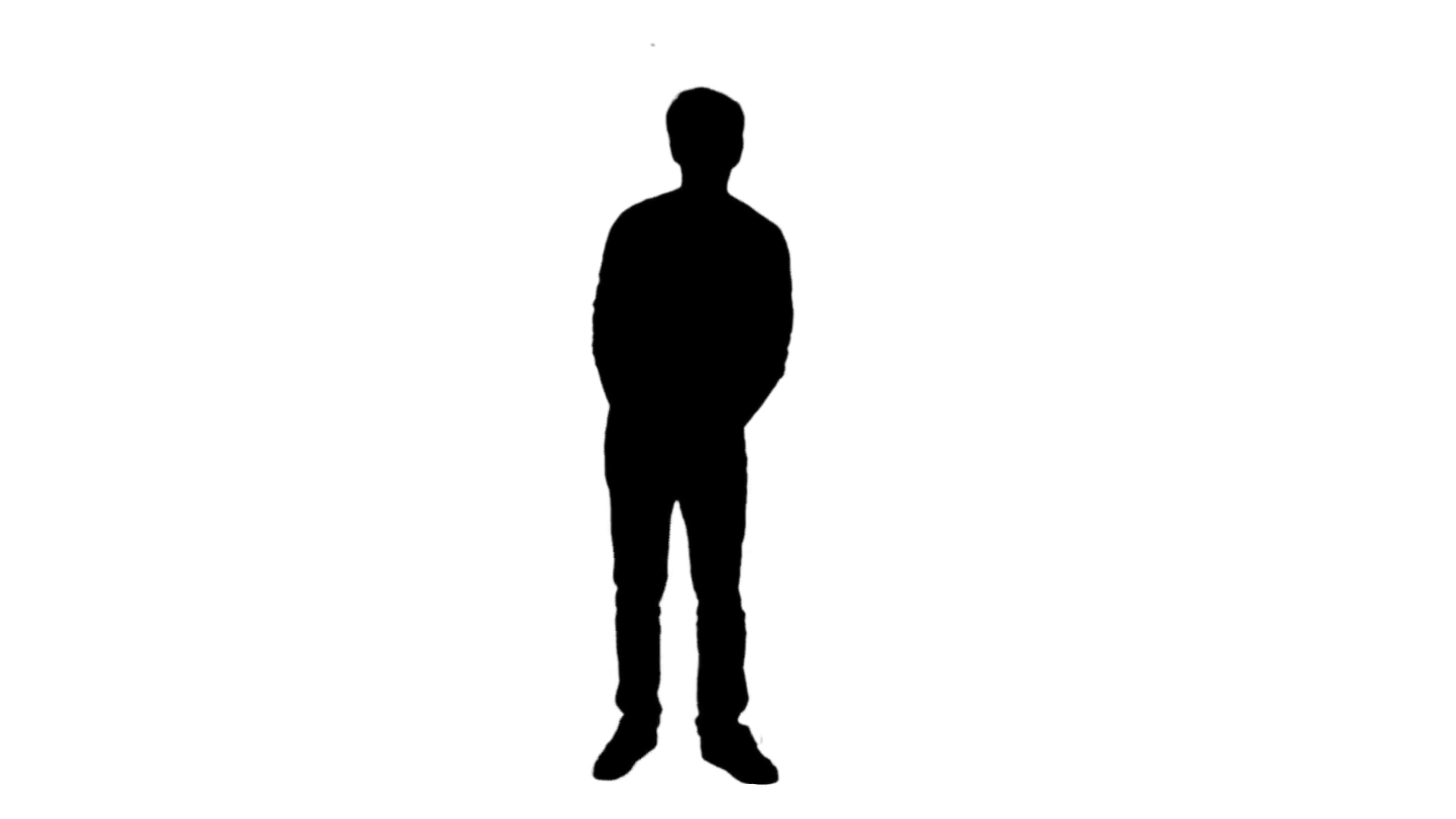 1920x1080 Stand Alone Posing Man Silhouette