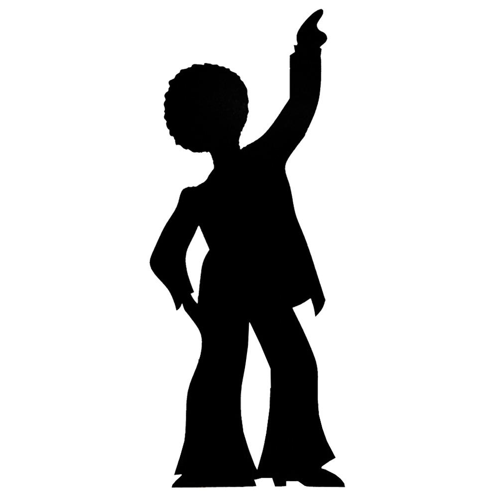 1000x1000 Stand Up Male Disco Dancer Silhouette 1.9m Peeks