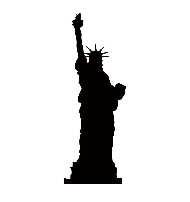 749x800 Advanced Graphics Statue Of Liberty Silhouette Cardboard Stand Up