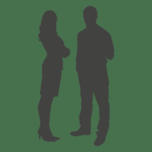 512x512 Businessman Woman Standing Silhouette
