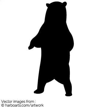 335x355 Download Bear Standing Up Silhouette
