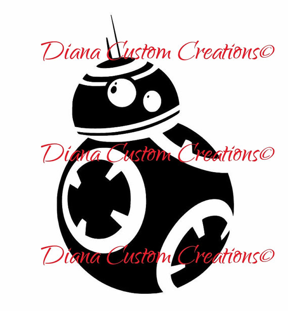 570x616 Bb8 Star Wars Svg Cricut And Silhouette From Dianacustomcreations