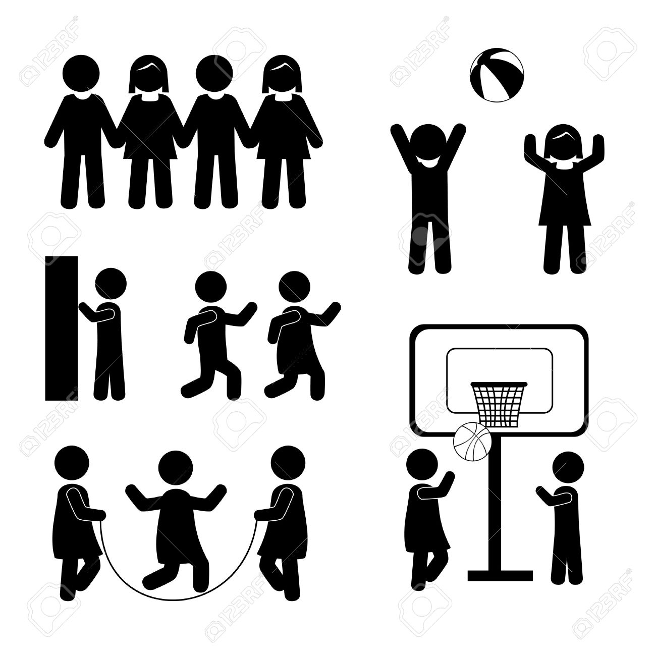 1300x1300 Stick People Clipart Silhouette