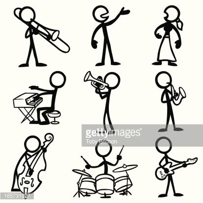 414x414 Stick Figure Playing Drums