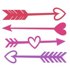 236x236 Valentine Arrow Set Svg Scrapbook Cut File Cute Clipart Files