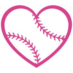 236x236 Baseball Heart Cuttable Design Cricut Decor Cricut