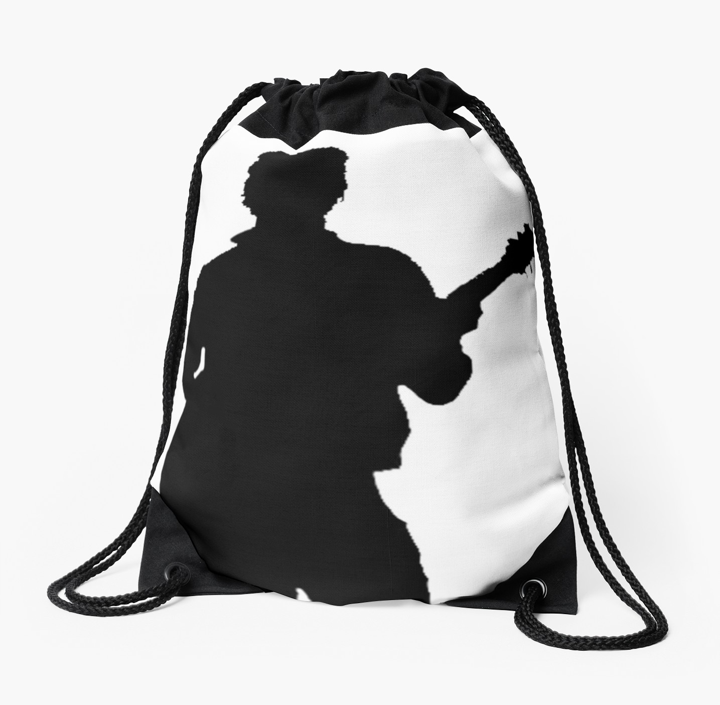 1435x1404 Harry Styles Silhouette Drawstring Bags By Laurasplace Redbubble