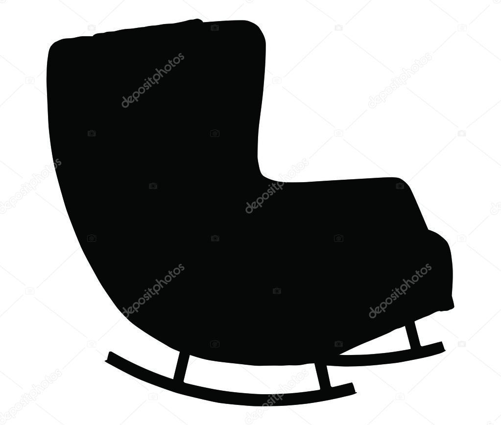 1023x868 The Best Silhouette Of Rocking Chair Isolated U Stock Vector