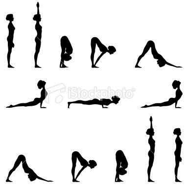 380x380 Yoga Sun Salutation Silhouette Series Yoga Sun Salutation, Yoga