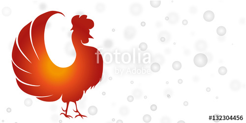 500x250 The Chinese Calendar, 2017, Rooster, Chicken, , Background