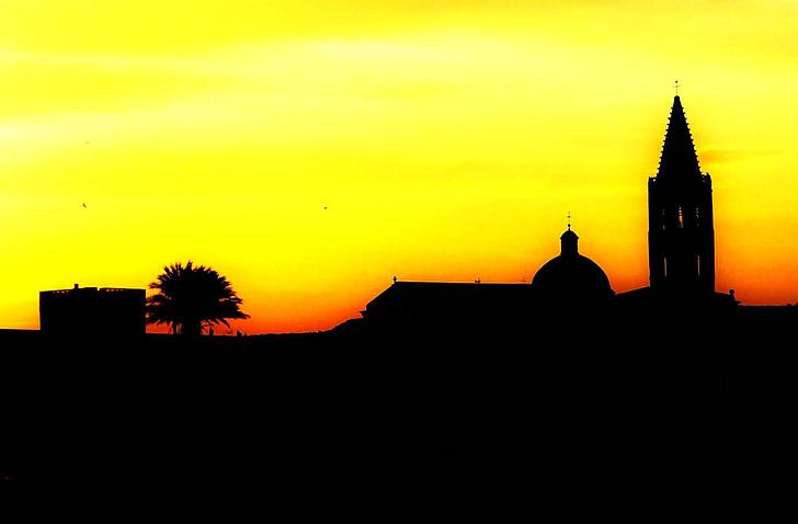 728x478 Free Photo Sun, Silhouette, Sunset, Sky, People, People