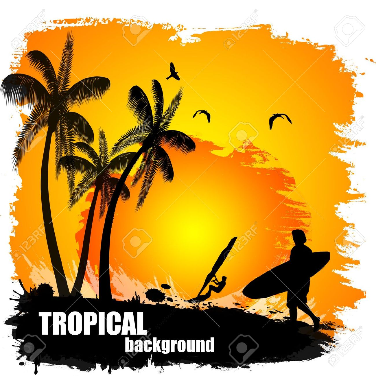 1300x1300 Sunset Clipart Tropical Sunset Many Interesting Cliparts