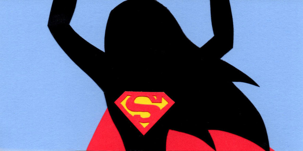 1024x510 Dc Super Hero Girls Supergirl Silhouette Papercut By Say Andy